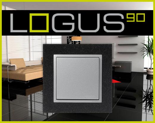 Khung viền Logus 90 Đá nhân tạo (Mã màu: TGA - Granite/ Aluminium)