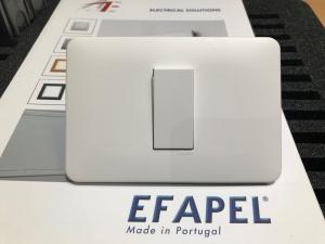 Mẫu công tắc, ổ cắm EFAPEL mặt hình chữ nhật cao cấp,  sang trọng
