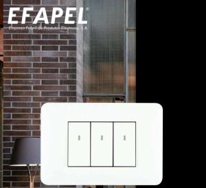 Công tắc, ổ cắm EFAPEL mặt hình chữ nhật cao cấp,  sang trọng