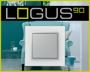 Khung viền Logus 90 Thủy tinh (Mã màu: TCA - Cristal/ Aluminium)