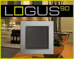 Khung viền Logus 90 Kim loại (Mã màu: TUS - Aluminium/ Gray)