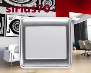 Khung viền Sirius 70 Kim loại (Mã màu: TBI - White/ Inox)