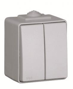 48061C, 48101C - Công tắc đôi 1 chiều, 2 chiều chống nước IP65